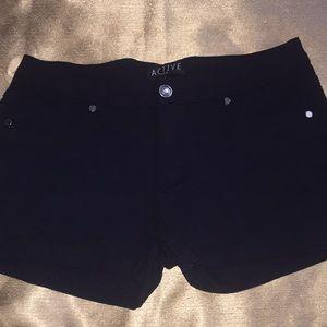 EUC Active USA Black Short Shorts Size: L